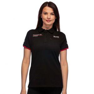 Porsche Motorsport Team Poloshirt Damen schwarz