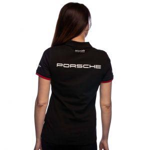 Porsche Motorsport Team Poloshirt Damas negro