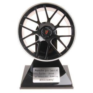 Porsche 997.2 Turbo 2010 Radfelge Schwarz/Silber 1:5