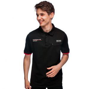 Porsche Motorsport Polo d'équipe noir