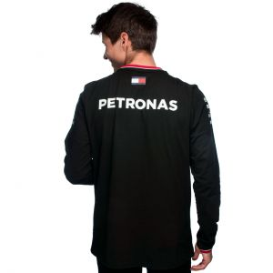 Mercedes-AMG Petronas Fahrer Langarm T-Shirt 2021 schwarz