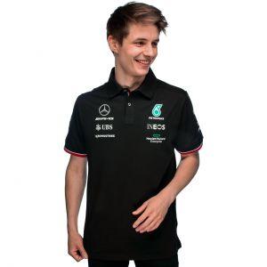 Mercedes-AMG Petronas Team Sponsor Poloshirt 2021 schwarz