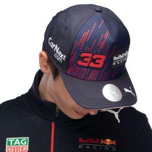 Red Bull Racing Pilote Casquette Verstappen 2021 bleu marine