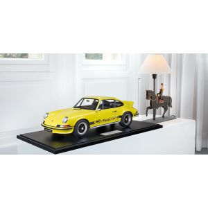 Porsche 911 Carrera RS 2.7 lightweight construction - 1972 - yellow / black decor 1/8