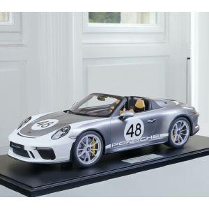 Porsche 911 (991.2) Speedster - 2019 - Heritage Version argent 1/8