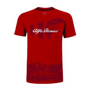 Alfa Romeo Lifestyle 110 Maglietta Classic Graphic rossa