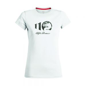 Alfa Romeo Lifestyle 110 Camiseta de Mujer Metallic blanca