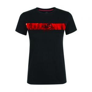 Alfa Romeo Lifestyle 110 T-shirt pour Dames Metallic noir