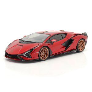Lamborghini Sian FKP 37 Baujahr 2019 rot / schwarz 1:18