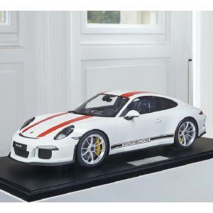 Porsche 911 (991.1) R - 2016 - blanco / rojo decoración 1/8