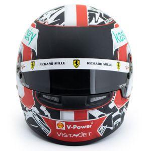 Charles Leclerc Casco en miniatura Fórmula 1 2021 1/2
