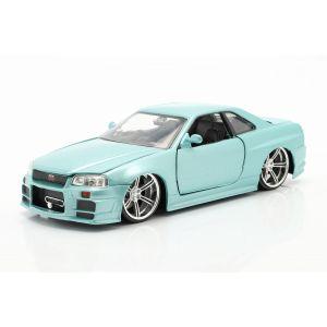 Fast & Furious Brian`s Nissan Skyline GT-R 1999 light green metallic 1/24