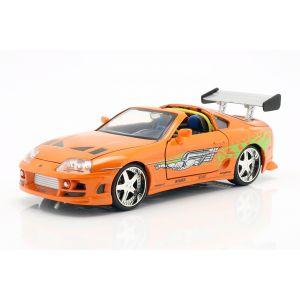 Fast & Furious Brian`s Toyota Supra 1995 naranja 1/24