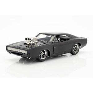 Fast & Furious Dom`s Dodge Charger R/T 1970 noir 1/24