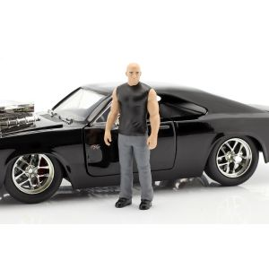 Fast & Furious Dom`s Dodge Charger R/T 1970 negro 1/24