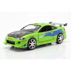 Fast & Furious Brian`s Mitsubishi Eclipse verde 1/24