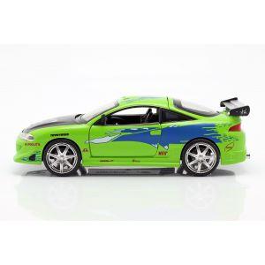 Fast & Furious Brian`s Mitsubishi Eclipse grün 1:24