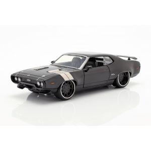 Fast & Furious Dom`s Plymouth GTX 1971 schwarz 1:24