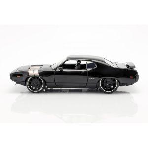 Fast & Furious Dom`s Plymouth GTX 1971 noir 1/24