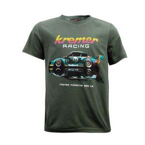 Kremer Racing Kinder T-Shirt Porsche 935 K2 Olive-grün