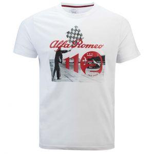 Alfa Romeo Lifestyle 110 T-shirt Anniversaire Course blanche