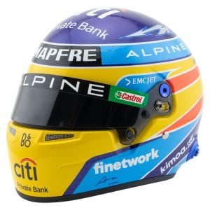 Fernando Alonso Casco en miniatura Fórmula 1 2021 1/2