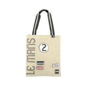 24h Race Le Mans Shopping Bag beige