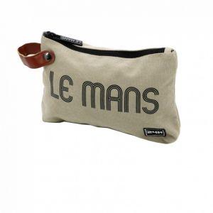 24h-Rennen Le Mans Clutch Tasche beige