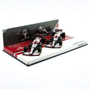 Alfa Romeo Racing 2021 ORLEN C41 Räikkönen / Giovinazzi Doppel-Set Limitierte Edition 1:43
