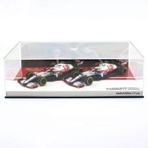Alfa Romeo Racing 2021 ORLEN C41 Räikkönen / Giovinazzi doppio set Edizione limitata 1/43