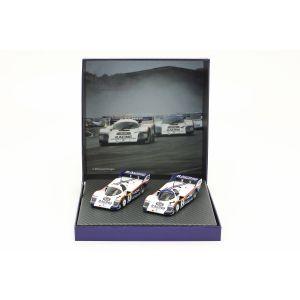 Porsche 956K #1 & #2 Conjunto doble 1000km Nürburgring 1983 1/43