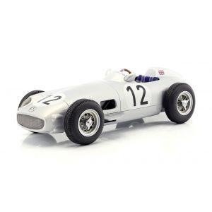 Stirling Moss Mercedes-Benz W196 #12 Vainqueur du Grand Prix de Grande-Bretagne de Formule 1 1955 1:18
