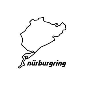 Nürburgring Aufkleber Nürburgring 8cm schwarz