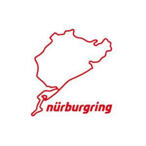 Nürburgring Sticker Nürburgring 8cm rojo
