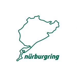Nürburgring Sticker Nürburgring 8cm verde
