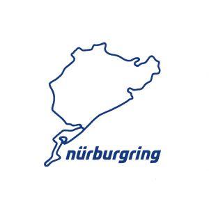 Nürburgring Aufkleber Nürburgring 8cm blau