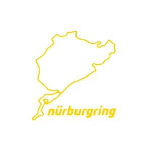 Nürburgring Sticker Nürburgring 8cm amarillo