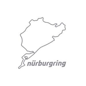 Nürburgring Sticker Nürburgring 8cm plata