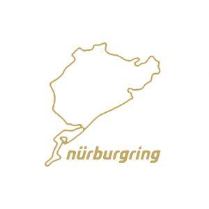 Nürburgring Sticker Nürburgring 8cm oro