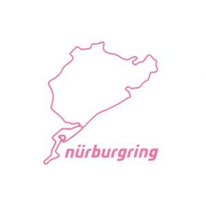 Nürburgring Sticker Nürburgring 8cm rosa
