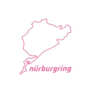 Nürburgring Sticker Nürburgring 8cm rose