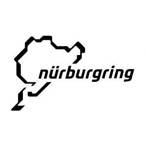 Nürburgring Sticker Nürburgring Logotipo 12cm negro