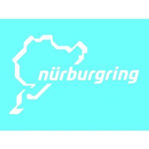 Nürburgring Sticker Nürburgring Logo 12cm blanc