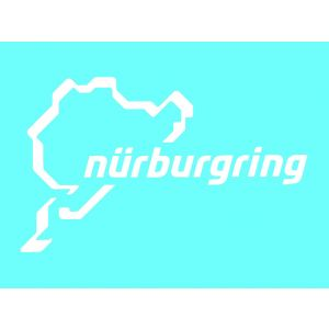 Nürburgring Sticker Nürburgring Logotipo 12cm blanco