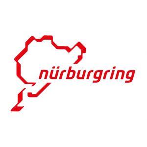 Nürburgring Aufkleber Nürburgring Logo 12cm rot