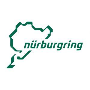 Nürburgring Sticker Nürburgring Logotipo 12cm verde
