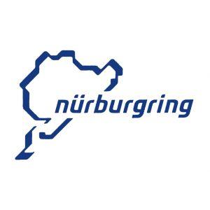 Nürburgring Sticker Nürburgring Logo 12cm blu