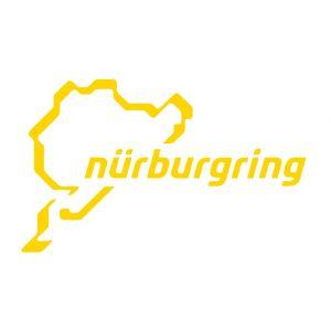 Nürburgring Sticker Nürburgring Logotipo 12cm amarillo
