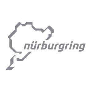 Nürburgring Sticker Nürburgring Logotipo 12cm plata