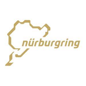 Nürburgring Aufkleber Nürburgring Logo 12cm gold